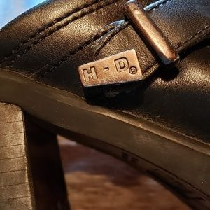 Harley Davidson black leather shoes..small heal